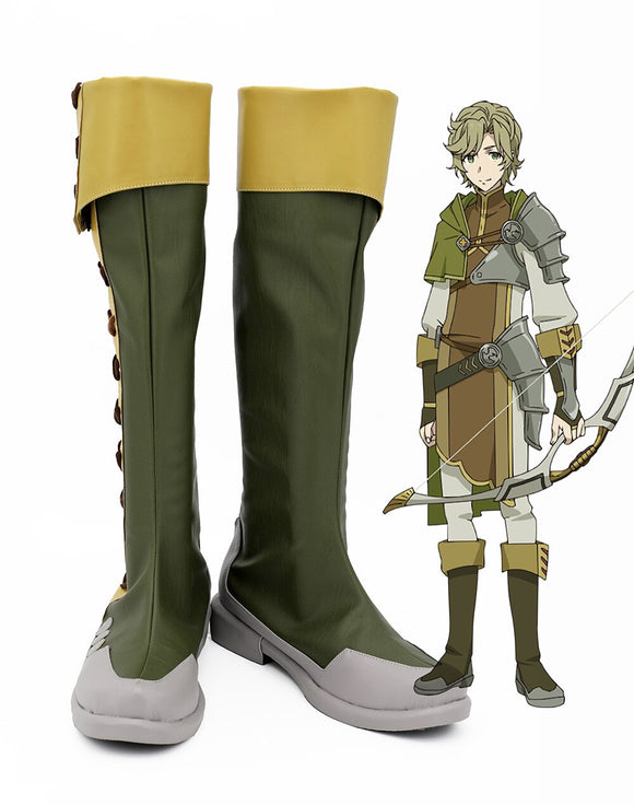 The Rising of the Shield Hero Itsuki Kawasumi Cosplay Boots Green Shoes Custom Made