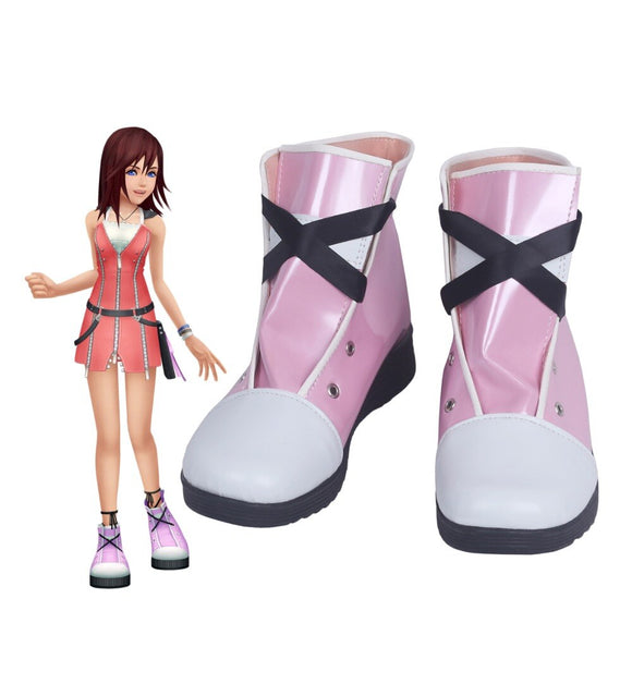 Kingdom Hearts 2 Kairi Cosplay Boots Pink Shoes Custom Made