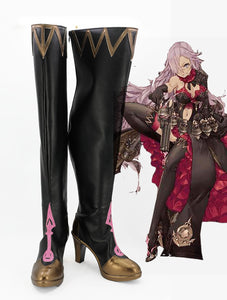 SINoALICE Cinderella Cosplay Boots Black Shoes High Heel Boots Custom Made Any Size