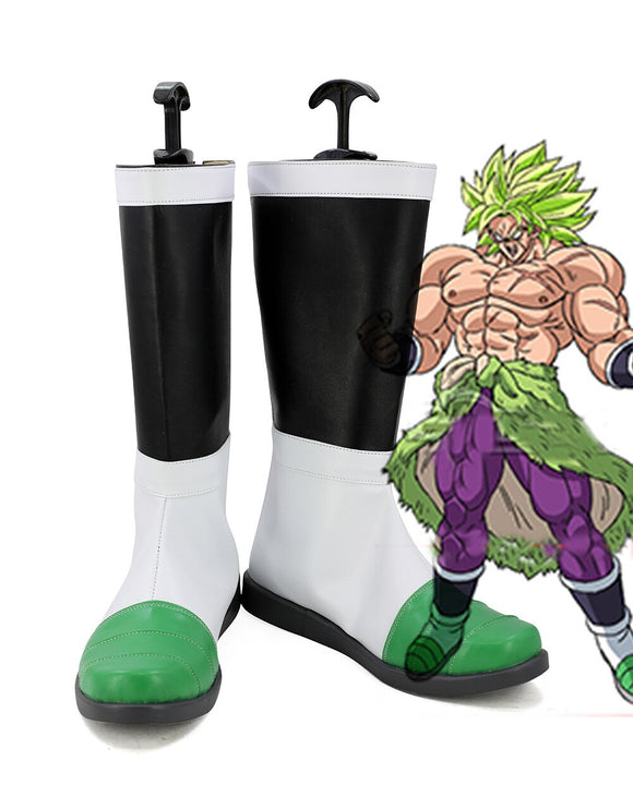 Dragon Ball Z Super Saiyan Broli Cosplay Boots Leather Shoes Custom Made