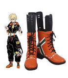 My Hero Academia Kacchan Katsuki Bakugo Cosplay Boots Boku no Hero Academia Orange Cosplay Leather Shoes