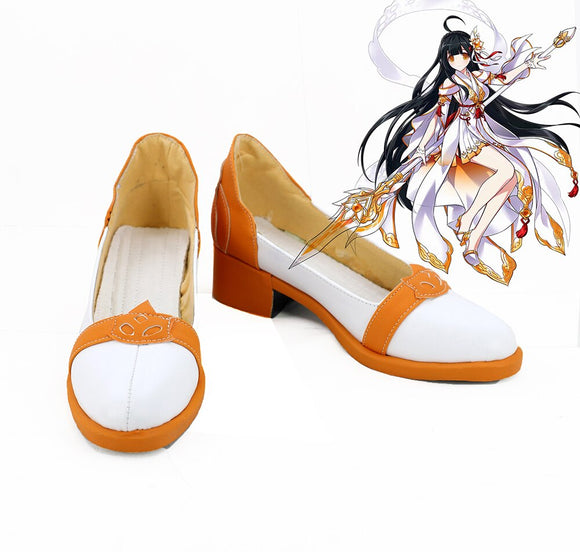 Game ELSWORD Vi Cosplay Shoes Leather Boots Custom Made Any Size