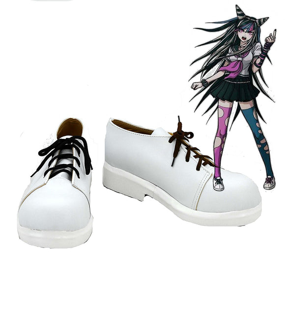 Game Danganronpa Ibuki Mioda Cosplay Shoes White Boots Custom Made Any Size