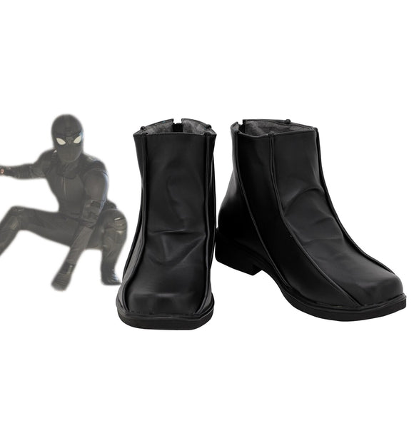 Spider-Man: Far From Home Spider Man Peter Park Cosplay Boots Black Shoes Custom Made Any Size