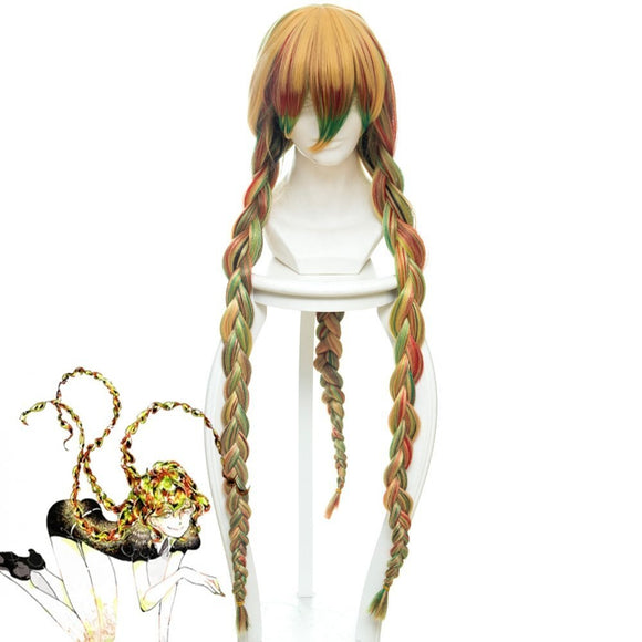 Land of the Lustrous Sphene Cosplay Wig Multi-color Hair