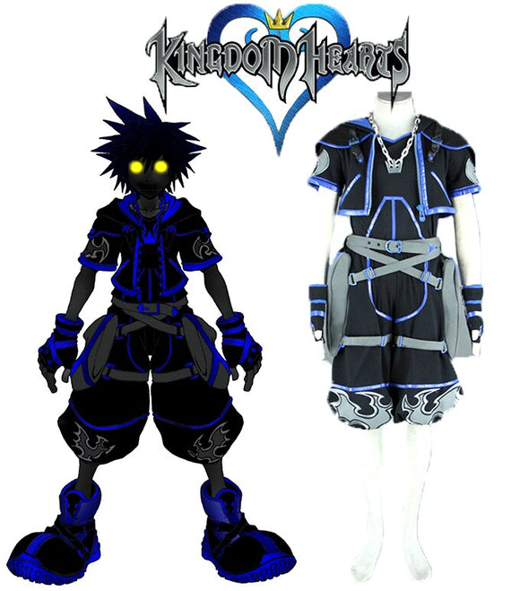 Kingdom Hearts Sora Anti Dark Cosplay Costume Custom Made