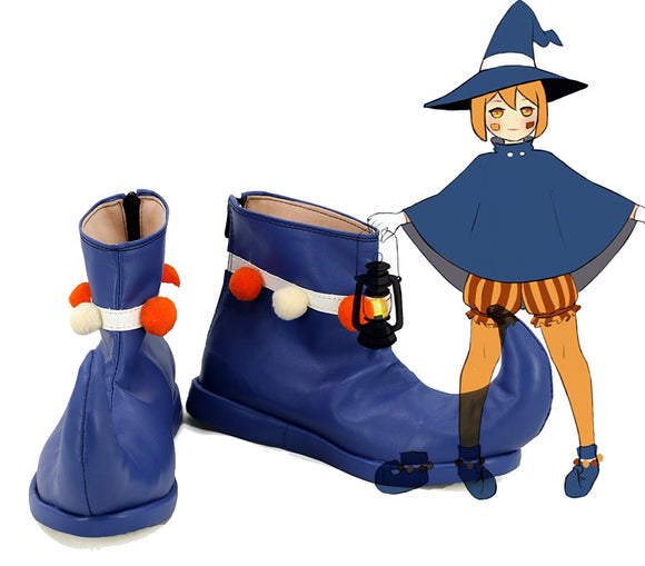 PA5 Persona 5 Pumpkin Lantern Cosplay Boots Blue Shoes Custom Made