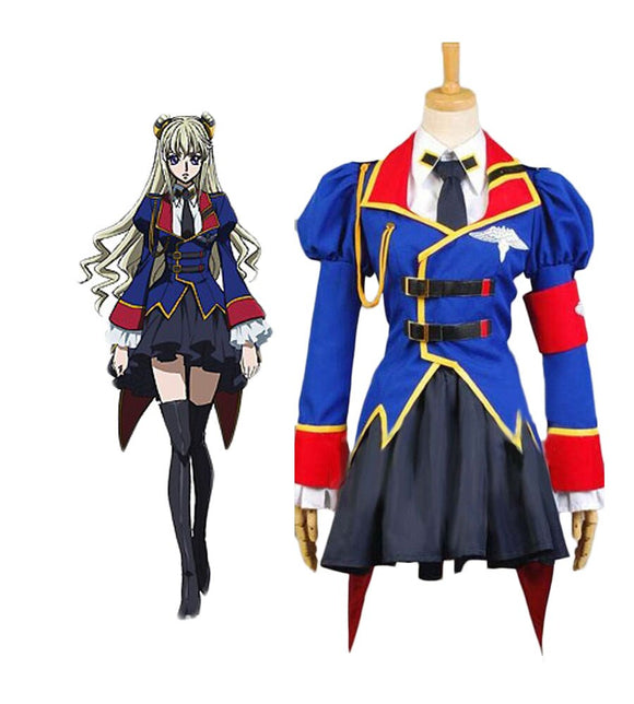 Code Geass: Akito the Exiled Leila Malcal Cosplay Costume