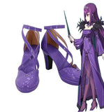 FGO Fate Grand Order Scathach-Skadi Cosplay Shoes Purple High Heel Boots Custom Made Any Size
