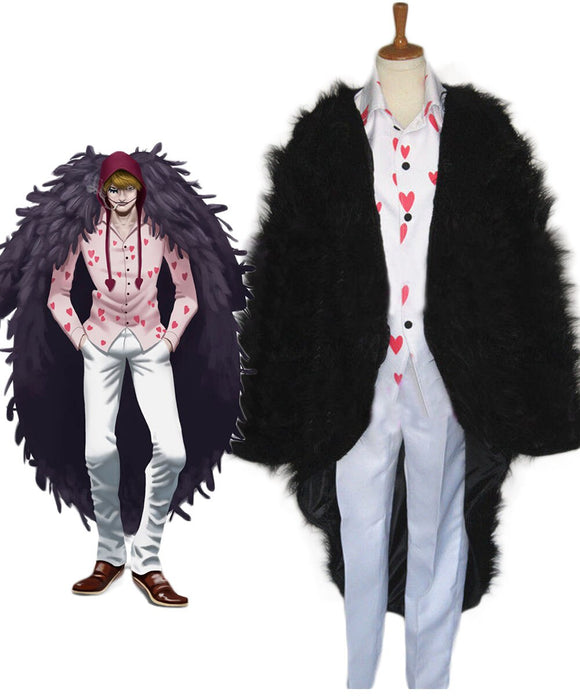 One Piece Donquixote Rosinante Corazon Cosplay Costume Custom Made