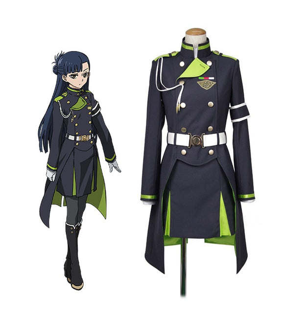 Seraph of the End Shigure Yukimi Cosplay Costume Custom Made