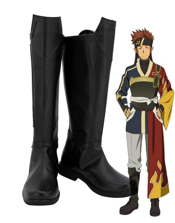Sword Art Online Klein Cosplay Boots Black Shoes Custom Made for Boys and Girls Any Size