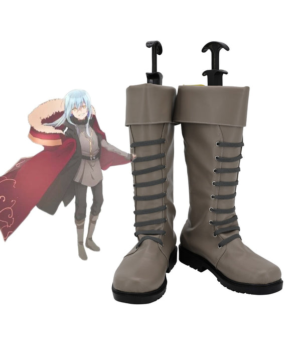 Tensei Shitara Slime Datta Ken Rimuru Tempest Cosplay Boots Grey Shoes Custom Made