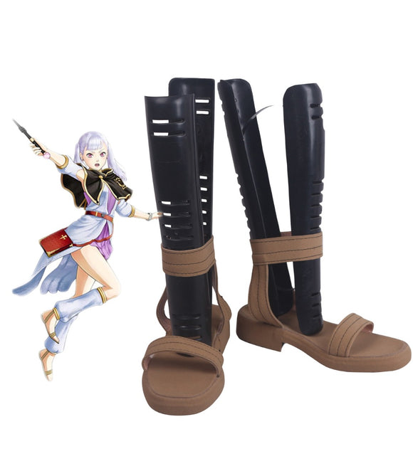 Black Clover Noelle Silva Cosplay Shoes Sandals Custom Made for Unisex