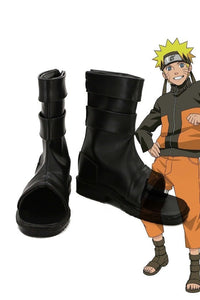 NARUTO Anime Uzumaki Naruto Ninja Cosplay Shoes Black Boots Custom Made