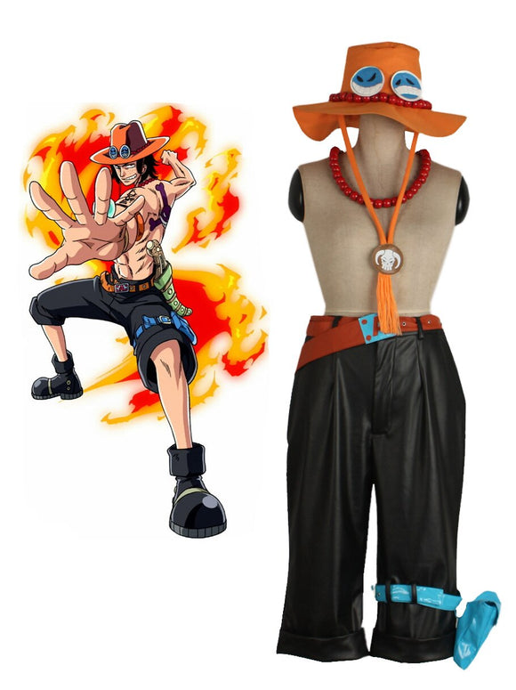 One Piece Portgas D Ace Outfits Cosplay Costume