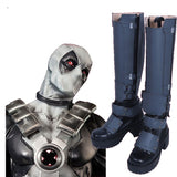 Superhero X-men Deadpool Cosplay Boots Grey Shoes Costume Made