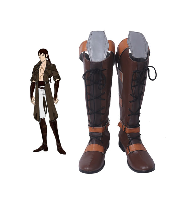RWBY Tyrian Callows Cosplay Boots Brown Shoes Custom Made
