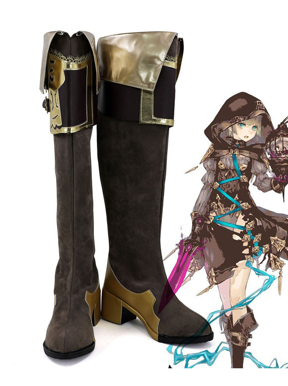 SINoALICE Hansel Gretel Cosplay Long Boots Leather Shoes Custom Made