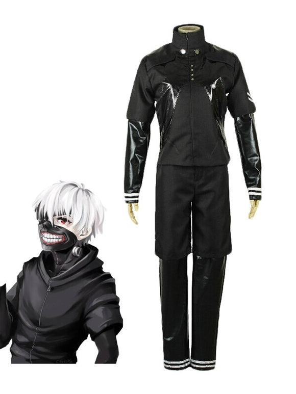 Anime Tokyo Ghoul 2 Kaneki Ken Black Battle Uniform Cosplay Costume Custom Made