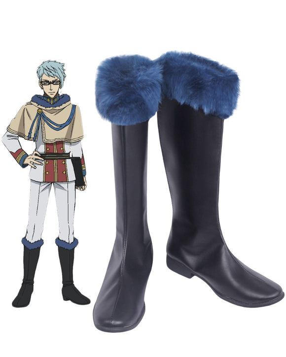 Black Clover Klaus Lunettes Cosplay Boots Black Shoes Custom Made