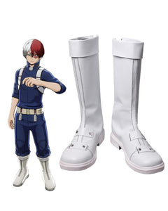 Boku no Hero Academia Shoto Todoroki Cosplay Boots My Hero Academia Todoroki Shoto Leather Shoes Cosplay Custom Made