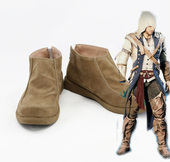 Assassin's Creed 3 Connor Cosplay Shoes Boots Custom Made
