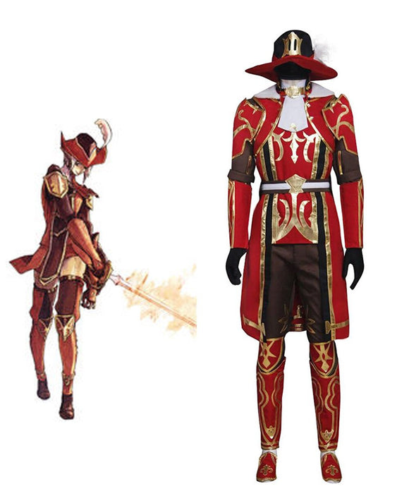 Final Fantasy XI 11 Red Mage Cosplay Costume Custom Made
