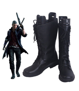 Devil May Cry Nero Cosplay Boots Black Shoes Custom Made Any Size for Unisex