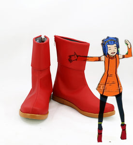 Fairy Tail Levy Mcgarden Cosplay Boots Red Shoes Custom Made