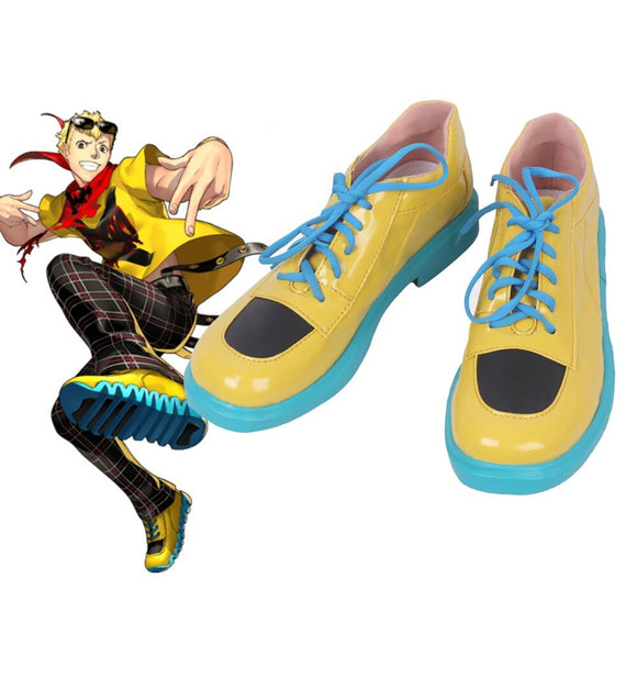 Persona 5 Ryuji Sakamoto Cosplay Shoes Yellow Boots Custom Made Any Size
