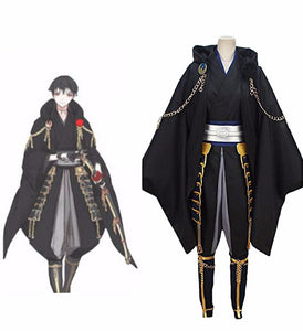 Touken Ranbu Tsurumaru Kuninaga Cosplay Costume Black Version Custom Made