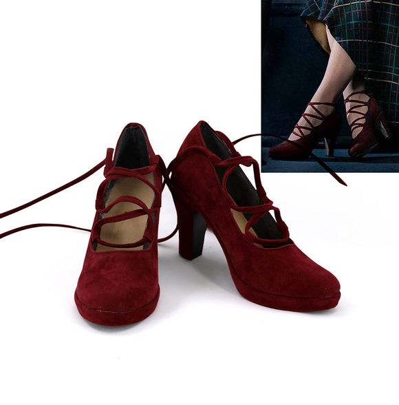 Queenie Goldstein Cosplay Shoes Fantastic Beasts and Where to Find Them 2 Cosplay Boots Custom Made