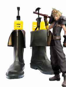 Final Fantasy VII FF7 Cloud Strife Cosplay Boots Black Shoes Custom Made