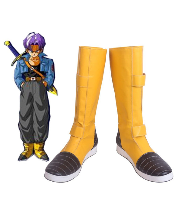 Dragon Ball Z Trunks Cosplay Boots Yellow Shoes Custom Made for Unisex Any Size
