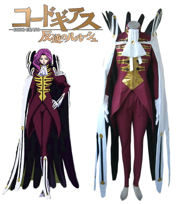 Code Geass Cornelia li Britannia Holy Britannian Empire Uniform Cosplay Costume Custom Made