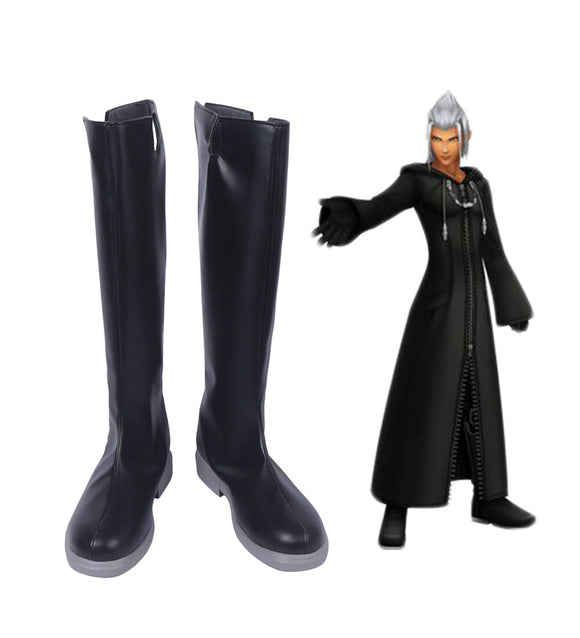 Kingdom Hearts Young Xehanort Cosplay Boots Black Shoes Custom Made