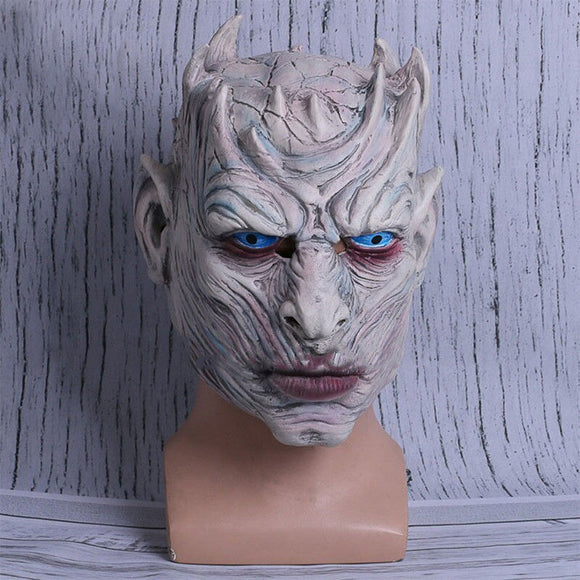 Game Of Thrones Night King Cosplay Mask Night King Halloween Fancy Ball Latex Helmet Props