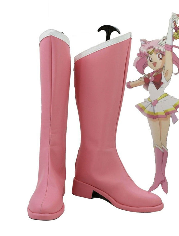 Sailor Moon Chibi Usa Cosplay Boots Pink Shoes Custom Made