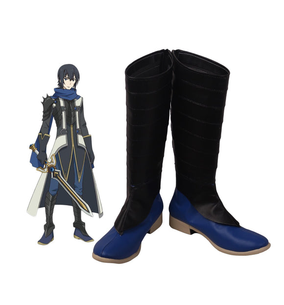The Rising of the Shield Sword Hero Ren Amaki Cosplay Boots Black Shoes Custom Made Any Size