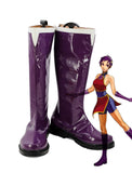 KOF KING OF FIGHTERS Athena Cosplay Boots Purple Shoes Custom Made