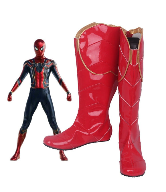 Avengers Infinity War Spiderman Cosplay Boots Red Shoes Spider-Man Cosplay Accessories