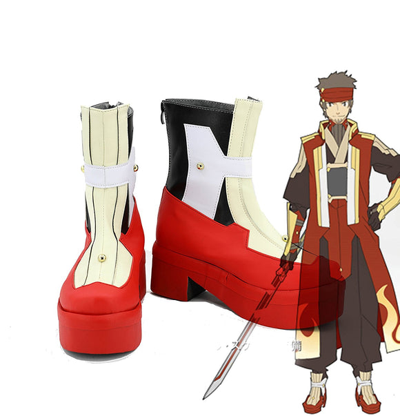 Sword Art Online Ordinal Scale Klein Cosplay Boots Leather Shoes Custom Made Any Size