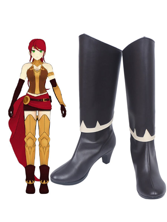 RWBY Pyrrha Nikos Cosplay Boots High Heel Shoes Custom Made Any Size