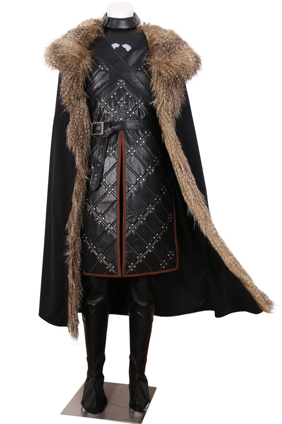 Game Of Thrones 7 Jon Snow Battle Suit Cosplay Costume Custom Made