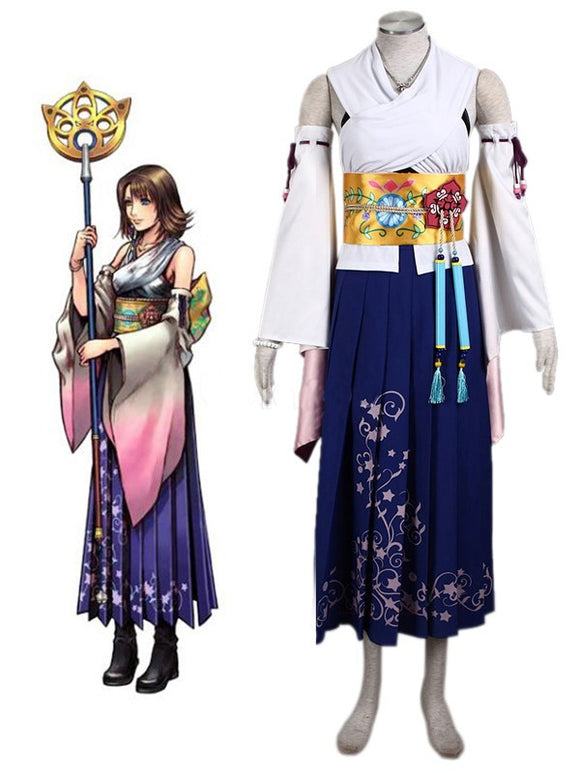 Final Fantasy Yuna Cosplay Costume Full Set Custom Made