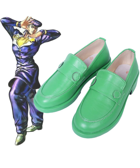 JoJo's Bizarre Adventure 4 Josuke Higashikata Cosplay Shoes Green Boots Custom Made