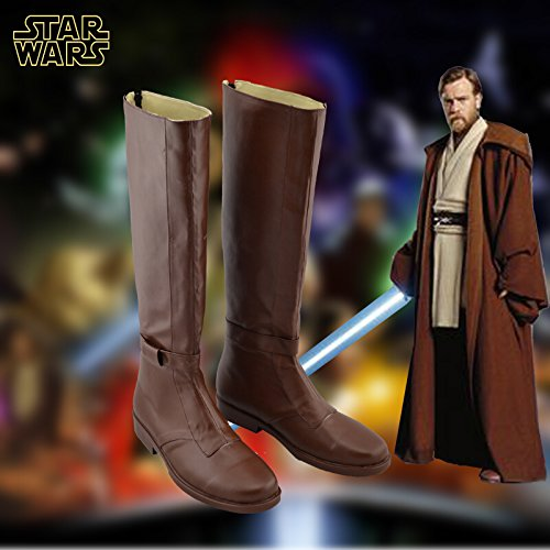 Star Wars Jedi Obi-Wan Kenobi Cosplay Boots Brown Shoes Custom Made