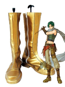 Fire Emblem Radiant Dawn Sothe Cosplay Boots Golden Shoes Custom Made