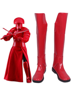 Star Wars 8 The Last Jedi Praetorian Guard Red Cosplay Boots Red Shoes Custom Made